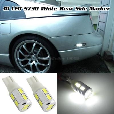 194 2825 2821 T10 High Power White 10-5730-Smd Rear Side Marker Bulbs Light-Pair
