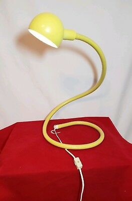 """Vintage 1973 Alsy Manufacturing Yellow """"The Charmer"""" Desk Lamp with Original Box"""