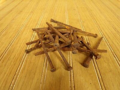 "20 ANTIQUE SQUARE NAILS 4 1/2"" LONG FROM 1800's BARN FIND (RARE LENGTH)"
