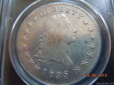 1795 Flowing Hair Dollar, 2 Leaves, Pcgs Xf Details, Strong Hair Top To Bottom!
