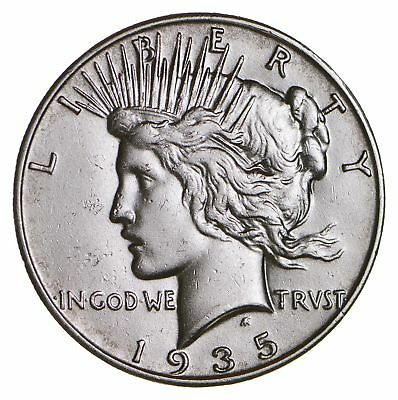 BETTER Date 1935-S Peace Silver Dollar - Nice Retail Value - 90% Silver US *748
