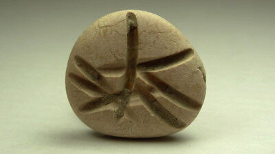 ANCIENT PHOENICIAN PEBBLE WITH ENGRAVED LETTER 4th CENTURY BC.