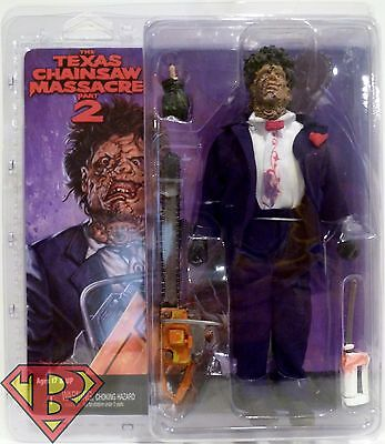 """LEATHERFACE The Texas Chainsaw Massacre Part 2 8"""" inch Clothed Figure Neca 2016"""