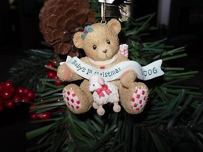 Cherished Teddies ornament baby's first Christmas dated 2006 Item # 4005156