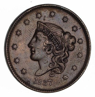 1837 Young Head Large Cent -Near Uncirculated *1493
