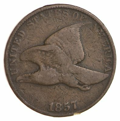 1857 Flying Eagle Cent - Very Tough - Issued for only 3 Years *894