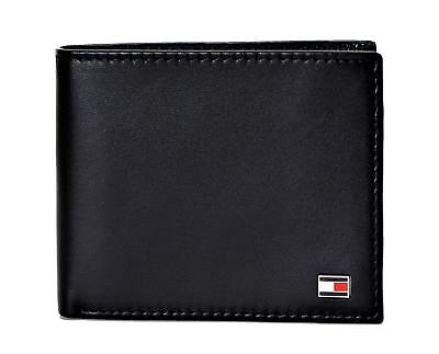 Tommy Hilfiger Men's RFID Blocking Leather ID Billfold Wallet