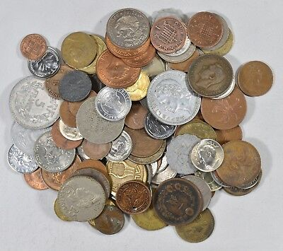 Roughly a POUND of Mixed World Coins - Great Mix *186