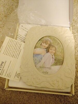 Lenox GEORGIAN Ivory China Photo Picture Frame 5×7 New In Box PERFECT Free S&H