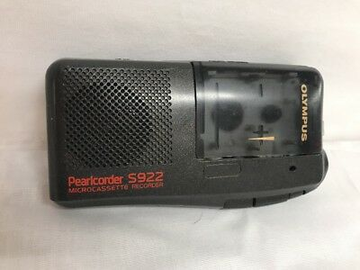 Olympus Pearlcorder S922 Micro Cassette Tape Handheld Recorder. Tested.