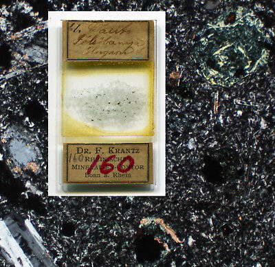 Dr. F. Krantz Mineral Thin Section Microscope Slide, ca. 1890s