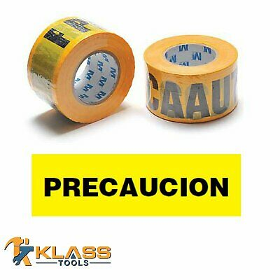 "Yellow Spanish Caution Tape ""PRECAUCION""  3"" x 1000 FT (333 Yards)"
