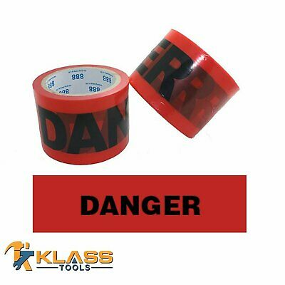 "Red Danger Tape 3"" x 300 FT (100 Yards)"
