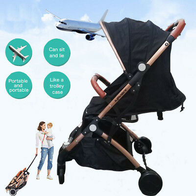 Baby Stroller Pram Compact Lightweight Jogger Carry-on Travel Foldable Carriage