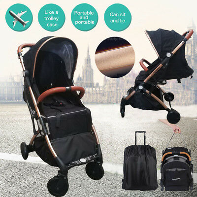 Portable Compact Lightweight Jogger Baby Stroller Pram Travel Carry-on Pushchair