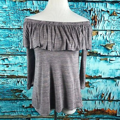 502bccafdfe97 Anthropologie Dolan Left Coast Collection Charla Off The Shoulder Ruffle Top