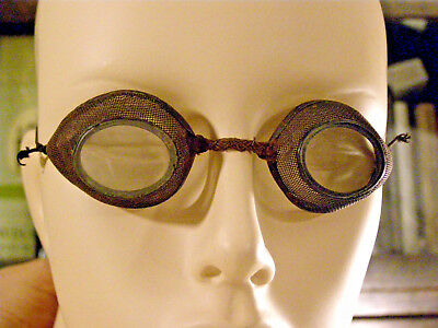 Antique Steampunk Driver's Driving Aviator Goggles .99