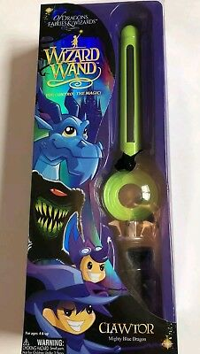 Of Dragons Fairies and Wizards Wizard Wand Green CLAWTOR Mighty Blue Dragon