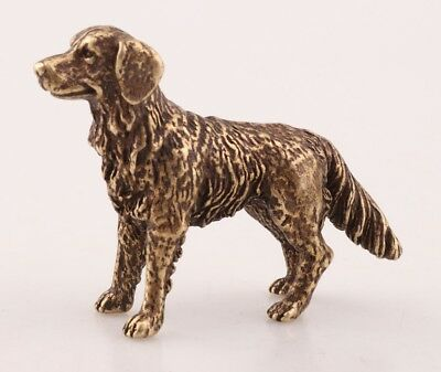 Retro Chinese Bronze Statue Miniature Animal Dog Solid Cast Mascot Decoration