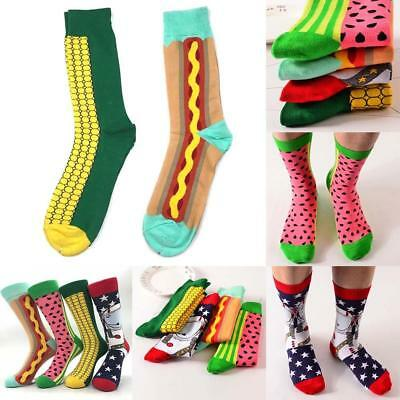 Unisex Happy Socks Men Cotton England Style Art Abstraction Funny Pattern-Socks