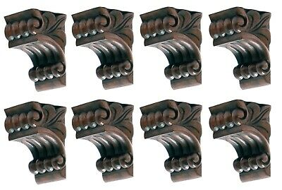Set of 8 Matching Carved Wood Corbels Small Size