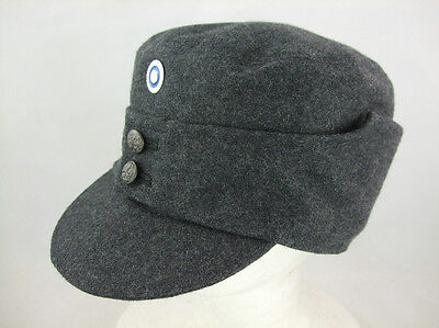 WW2 Finnish EM Soldier Wool Field Cap With Badge