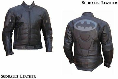 Batman Motorcycle Leather Racing Jacket Full Body Protection Ce Approved