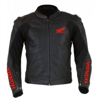 Honda Motorcycle Leather Racing Jacket Full Body Protection Ce Approved