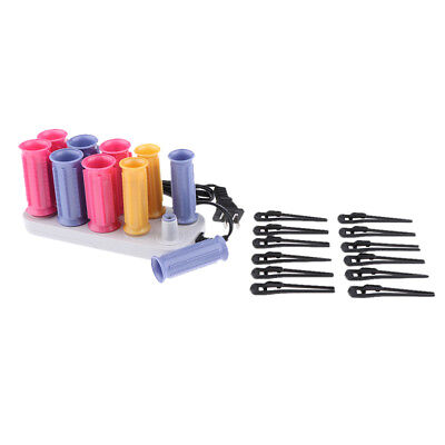 10x Women Hair Fringe Bangs Clip Curler USB Roller Salon DIY Styling Tools