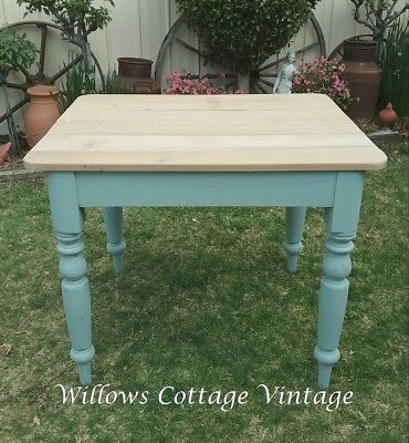 Old~Small~Vintage~French~Country~Cottage~Shabby~Farmhouse~Table