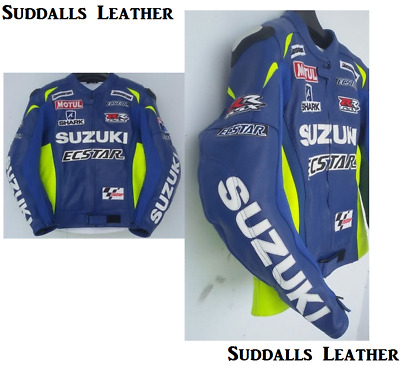 Suzuki Motorcycle Leather Racing Jacket Full Body Protection Ce Approved