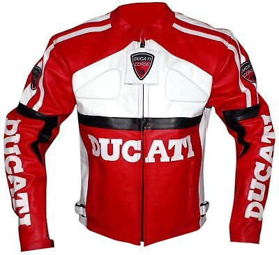Ducati Motorcycle Leather Racing Jacket Full Body Protection Ce Approved