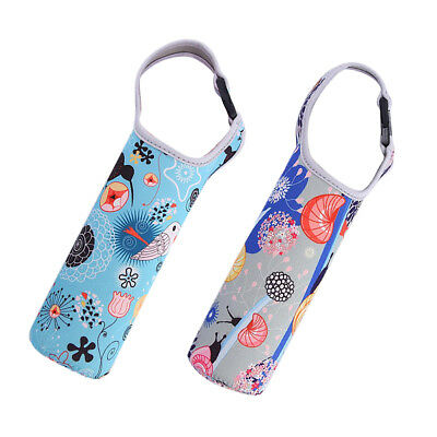 400-600ml Travel Water Bottle Cover Insulated Sleeve Bag Case Pouch Holder*2