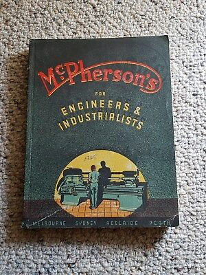 Vintage McPherson 1949 catalogue for Engineers & Industrialists