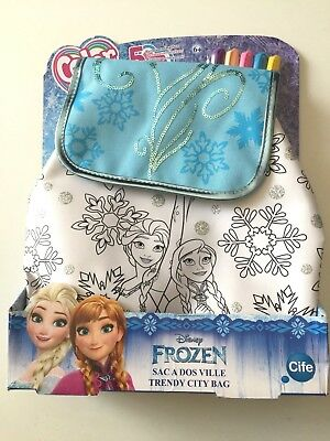 SAC A DOS Disney FROZEN - VILLE TRENDY CITY - Personnalisable à colorier - Neuf