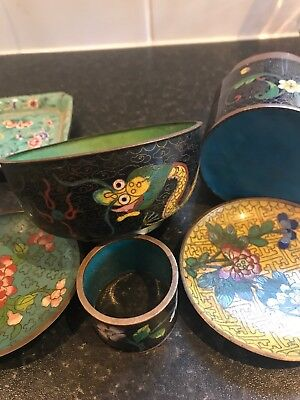 Chinese Cloisonne Job Lot Sold As Found