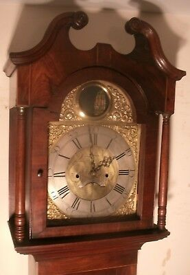 Antique Mahogany Automation Brass  Rocking Ship   Longcase / Grandfather Clock