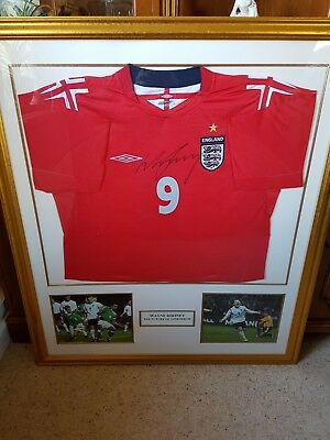 1fa365b5fba Wayne Rooney Signed England 2006 Shirt Framed (Certificate of Authenticity)