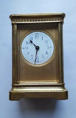 Antique French Brass Carriage Clock c1890