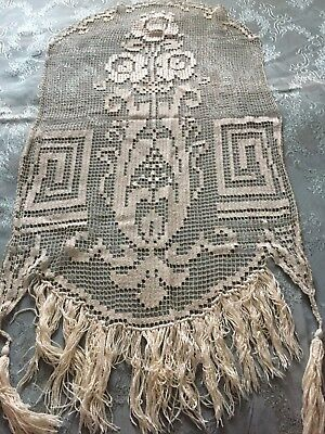 Beautiful Vintage Handmade Filet Lace  Motif