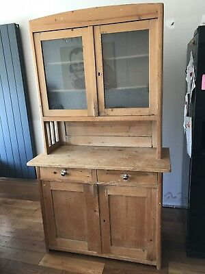 Antique Victorian Antique Pine kitchen dresser