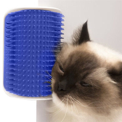 Pet Cat Self Groomer Brush Wall Corner Grooming Massager Comb Catnip Toy new