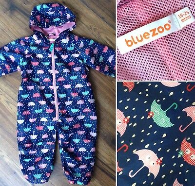 Blue Zoo Baby Girl's Puddle Splash Suit Rain All-in-One Waterproof   18-24 month