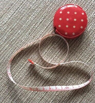 Cath Kidston Red Dot Oilcloth Retractable Tape Measure