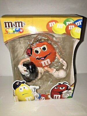2007 M&m Candy Orange Racing Car Ornament #38 With Tire - Mars - Nascar