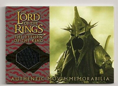 2004 Topps Lord Of The Rings Rotk Witch-King's Cloak Authentic Movie Memorabilia