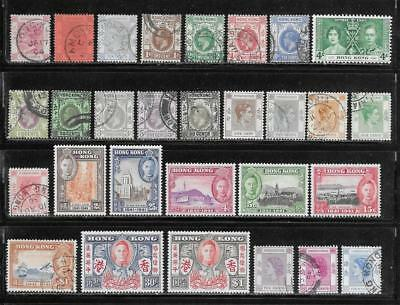 Hong Kong Collection Old Stamps