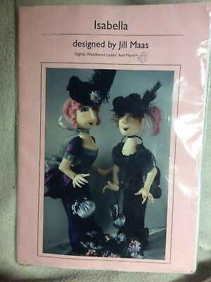 Cloth Doll Sewing Pattern 'Isabella' By Jill Maas