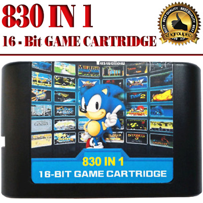 830 In 1 DIY Mega Drive | Genesis SEGA Multi Cart NTSC and PAL 16 Bit Game Card