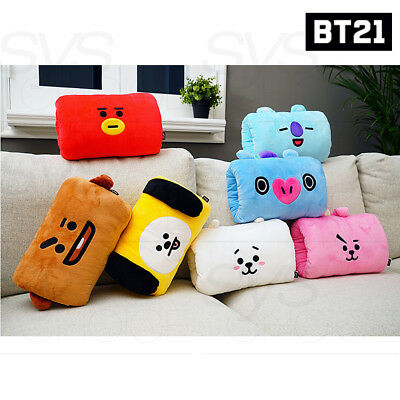 BTS BT21 Official Authentic Goods Hand Warmer Cushion 7Characters By Kumhong